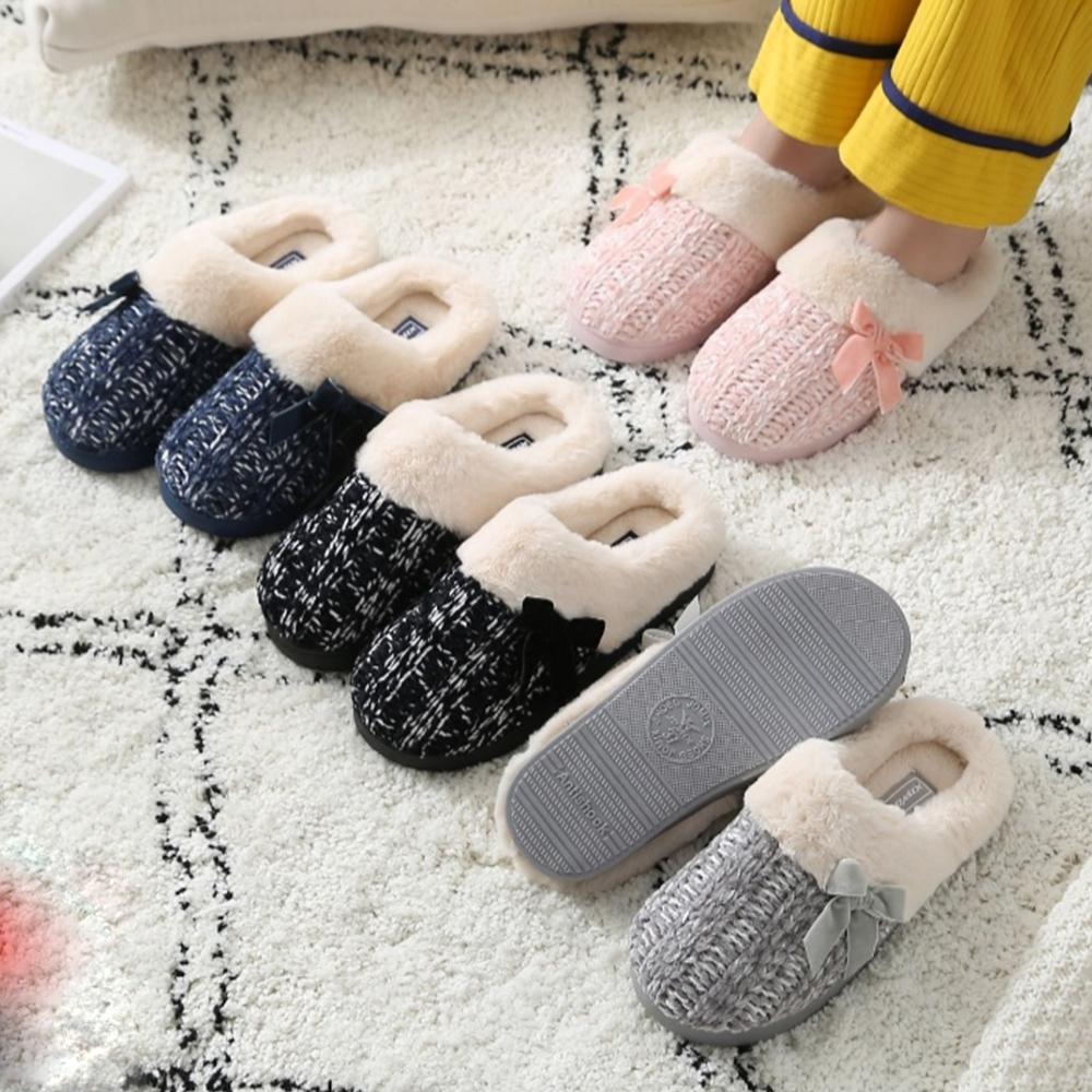 tople krznene papuče pletene