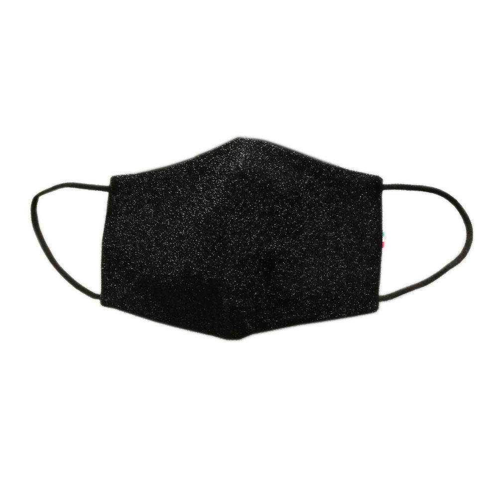 crna maska lice šljokice