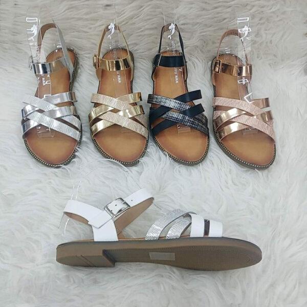 ženske metalik sandale